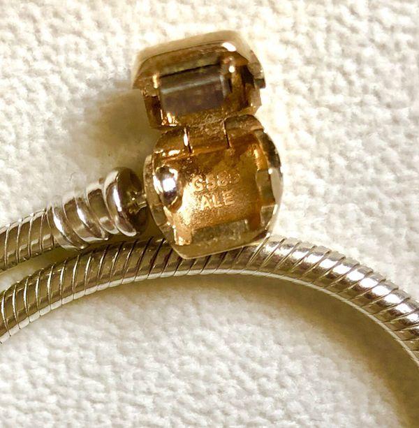 """Authentic Pandora 14k Gold Clasp Bracelet G585 ALE 7.5"""" !!"""