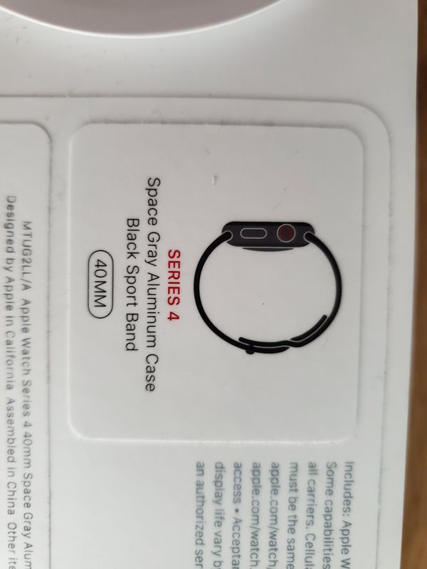 Apple Watch Series 4 40mm Space Grey Cellular