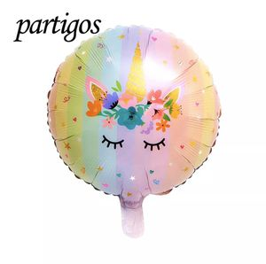 5pcs 18inch Balloon 3D Round Foil Balloon Unicorn Birthday Party for Sale in Linden, NJ