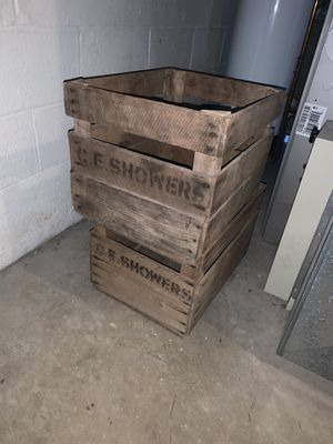 Vintage wooden crates for Sale in Frederick, MD