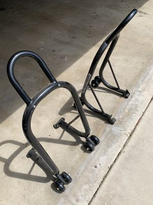 Steel Horse Fabrications EZ Lift Motorcycle Front and Rear Motorcycle Stands for Triumph Bonneville, Truxton, Scrambler for Sale in Los Angeles, CA