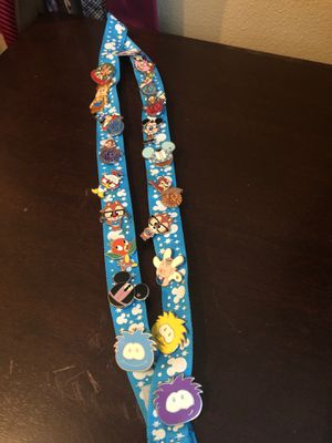 Collectible Disney Pins on Disney Lanyard for Sale in Everett, WA