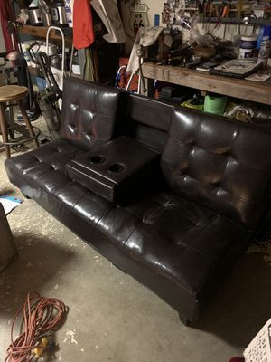 Leather futon for Sale in Oxnard, CA