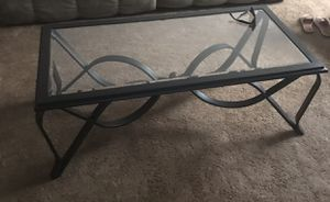 Iron/glass coffee and end tables for Sale in Vidalia, GA