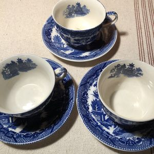 3 Blue Willow Tea Cup And Saucer Sets for Sale in University Place, WA