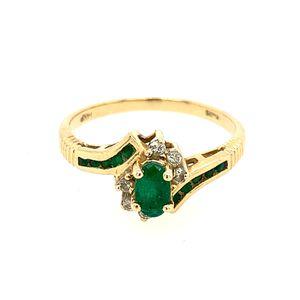 14k Emerald and Diamond Ring for Sale in Alexandria, VA