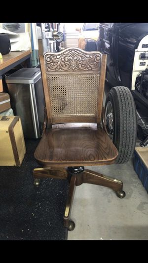 Wood antique steno bankers chair -desk chair for Sale in Goodyear, AZ