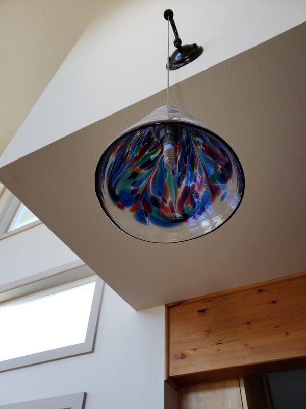 Glass shade pendants (handblown)