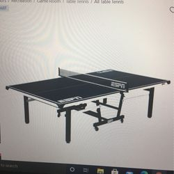 ESPN Official Size 18mm 2 piece Table Tennis Table With Table Cover for Sale in Laurel,  MD