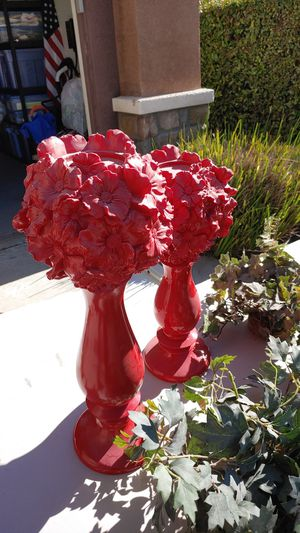 Stunning High gloss Red candleholders for Sale in Lytle Creek, CA