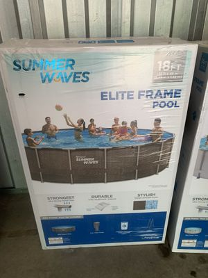 Summer Waves 18 x 48 Swimming Pool Elite Frame Filter Pump Ladder in Hand Immediate Pickup for Sale in Cherry Hill, NJ
