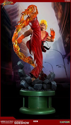 Sideshow PCS collectibles Ken Masters Dragon Flame 1/4 see the statue Street Fighter premium format for Sale in Phoenix, AZ
