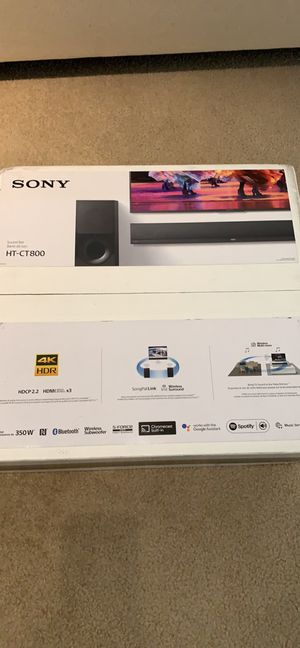 Sony sound Bar with wireless subwoofer, brand new for Sale in Herndon, VA