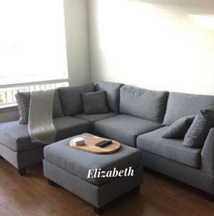 New in box grey sofa includes ottoman - reversible chaise for Sale in Downey, CA