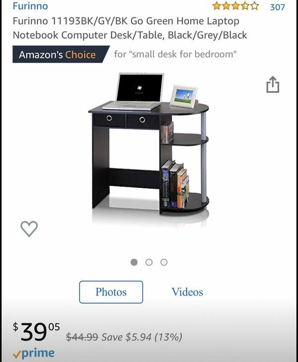 Small Computer Desk w/ Stool