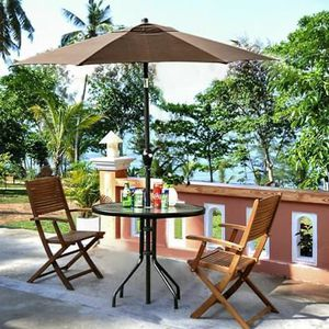 SHIPPING ONLY 2 Piece Patio Furniture Set Umbrella and Table for Outdoor Areas for Sale in Las Vegas, NV