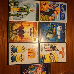 Set Of 7 Movies For Children. Despicable Me. Toy Story, Etc for Sale in Mountain View, CA