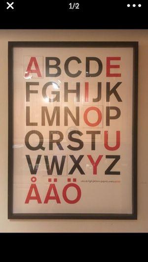 IKEA alphabet art print for Sale in Orlando, FL