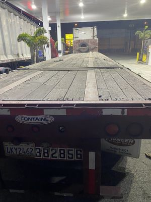 Flat bed trailer 48foot by 96inches wide open axel for Sale in Montebello, CA
