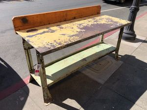 Antique industrial work table for Sale in Los Angeles, CA
