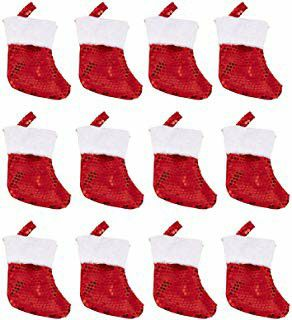 Juvale Red Christmas Stockings - 12-Pack Mini Santa Sock Gift Bag, Festive Small Candy Pouch, Holiday Party Favors Supplies, for Sale in Hawthorne, CA