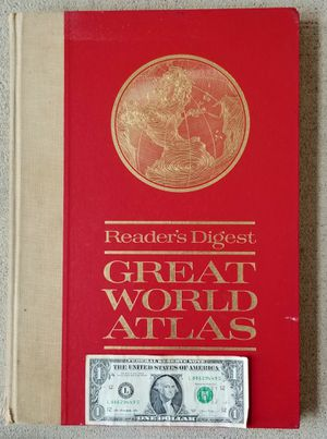 Vintage Collectible World Atlas VERY LARGE 1963 -Reader's Digest for Sale in Auburn, WA