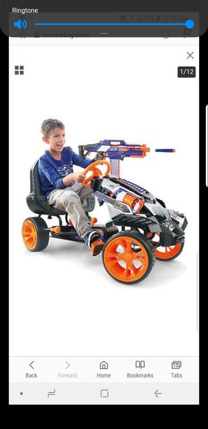 nerf pedal car with gun slots and dart holder attachment for Sale for sale  The Bronx, NY