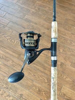 New Penn Battle II 5000 Reel on a Shimano Teramar Rod for Sale in New Port Richey, FL