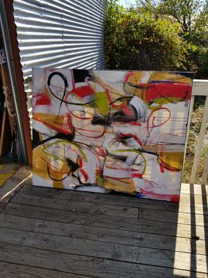 Abstract art huge canvas artist signed original for Sale in Raleigh, NC