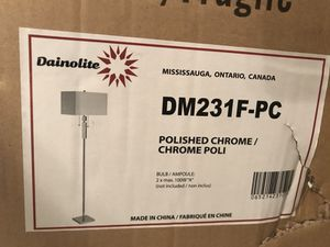 Cheap Brand new Floor Lamp Polished chrome for Sale in Miami, FL