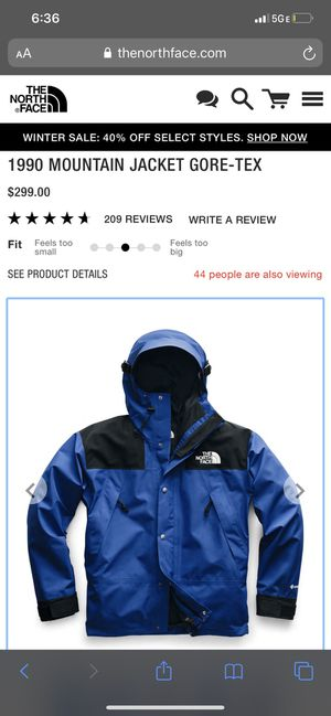 The North Face 1990 Mountain Jacket GORE-TEX GTX Men's Large for Sale in Washington, DC