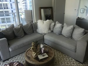 West Elm Grey Couch excellent condition for Sale in Miami, FL
