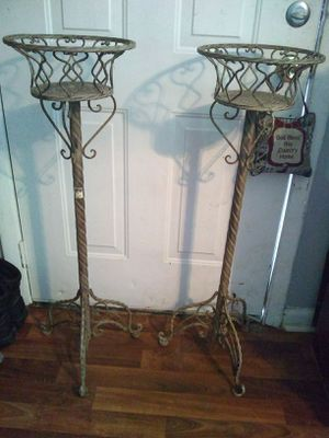 Two metal plant stand with heart design for Sale in Nashville, TN