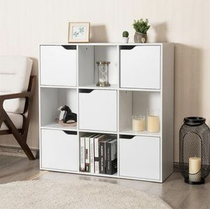 9 Cube Storage Wood Divider Bookcase-White for Sale in South El Monte, CA