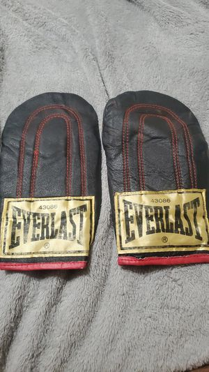 Everlast Black Leather Speed Bag Gloves Model 43086 for Sale in Gilbert, AZ