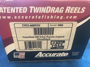 Accurate Dauntless 600 Extra Narrow 2 Speed Silver/Black DX2-600NN for Sale in Lauderhill, FL
