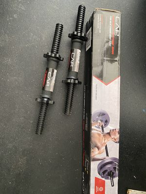 Standard lifting bar with standard dumbbell bars for Sale in Surprise, AZ