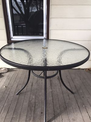 Tempered Glass Patio Table for Sale in Sioux Falls, SD