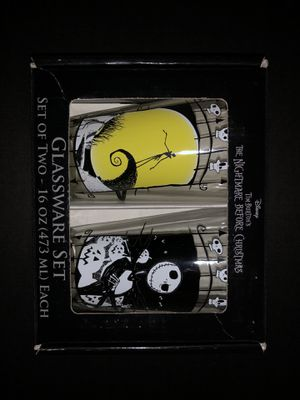 Disney's Nightmare Before Christmas Glassware Set Of 2! for Sale in San Bruno, CA