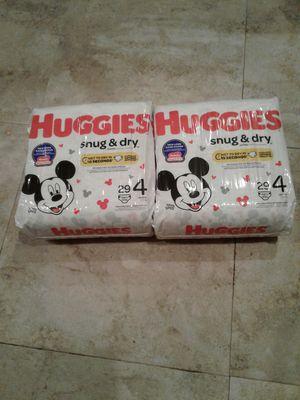 2 packs of huggies size 4, Pennsauken NJ pick up for Sale in Cherry Hill, NJ