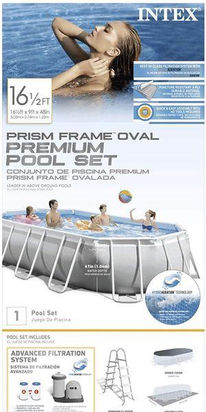 Intex 16.5 ft Prism Frame Oval Pool for Sale in Lawndale, CA