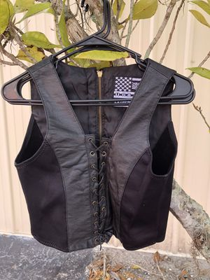 Women's motorcycle leather vest for Sale in Lutz, FL