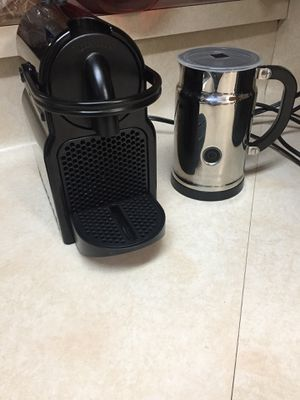 Nespresso coffee maker and milk fruther for sale for Sale in Austin, TX