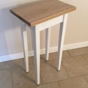 """17"""" Oak Top Wood Modern White Sofa Entry Hallway Accent Side Table $50 for Sale in Arlington Heights, IL"""