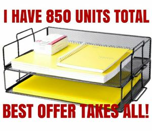 OFFICE PRODUCTS- 2 TIER DESK FILE ORGANIZER- 850 UNITS- BEST OFFER TAKES ALL! for Sale in Boca Raton, FL