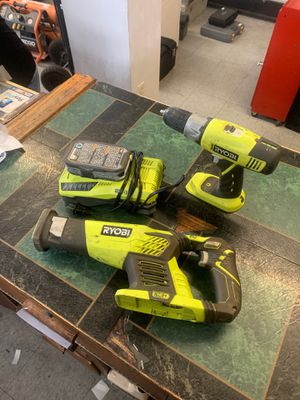 Ryobi cordless drill and saws all for Sale in Pueblo, CO