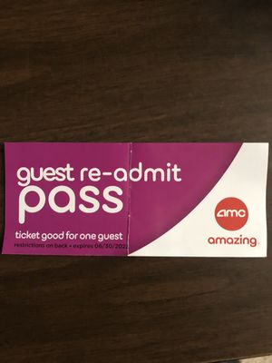 AMC Movie pass valid till 31-DEC-2020, any new movies also valid for Sale in Smyrna, GA