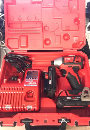 Milwaukee impact drill with charger and battery for Sale in Winter Garden, FL