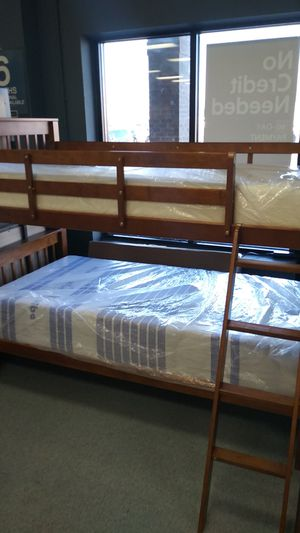 Mapple twin bunk bed frame mattress not included for Sale in Columbus, OH