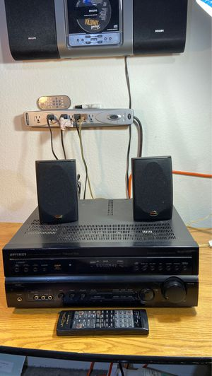 Optimus STAV-3690 Surround Sound Stereo Receiver - 2 Polk Audio Speakers for Sale in Henderson, NV